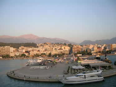 View of Patras in summer